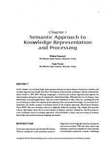 Semantic Approach to Knowledge Representation and Processing