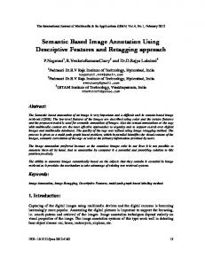 Semantic Based Image Annotation Using ... - Aircc Digital Library