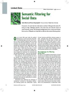 Semantic Filtering for Social Data - Semantic Scholar