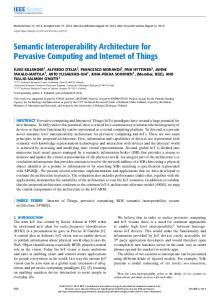 Semantic Interoperability Architecture for Pervasive ... - IEEE Xplore