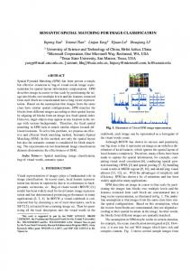 Semantic-Spatial Matching for image classification - Computer ...
