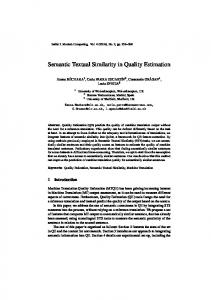Semantic Textual Similarity in Quality Estimation - Baltic Journal of ...