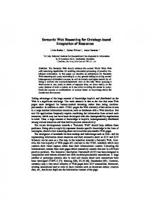 Semantic Web Reasoning for Ontology-based ... - Semantic Scholar