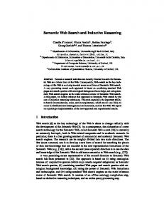 Semantic Web Search and Inductive Reasoning - Semantic Scholar