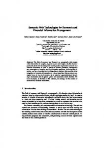 Semantic Web Technologies for Economic and Financial Information ...