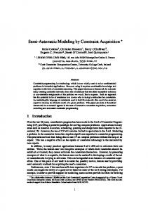Semi-Automatic Modeling by Constraint Acquisition