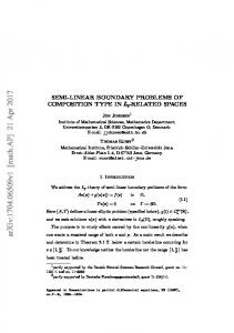 Semi-linear boundary problems of composition type in $ L_p $-related ...