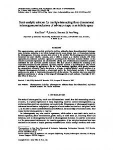 Semianalytic solution for multiple interacting threedimensional ...