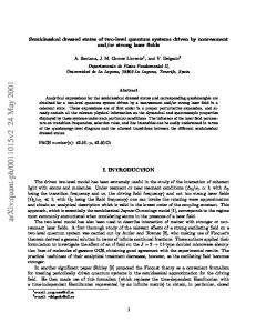 Semiclassical dressed states of two-level quantum systems driven by ...