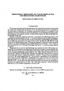 SEMICLASSICAL RESONANCES AND TRACE FORMULAE FOR ...