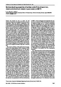 Semiconducting properties of surface oxide films of pure iron, nickel ...