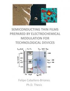 semiconducting thin films prepared by ...