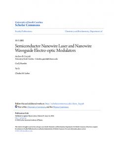 Semiconductor Nanowire Laser and Nanowire ...