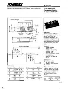 Semiconductor Power Modules Applications & Technical Data Book