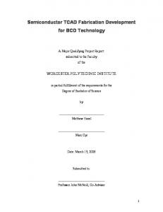 Semiconductor TCAD Fabrication Development for BCD Technology