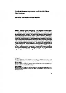Semicontinuous regression models with Skew ...