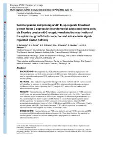 Seminal plasma and prostaglandin E2 up-regulate ...