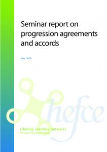 Seminar report on progression agreements and accords