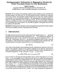 Semiparametric Estimation in Regression Models for Point ... - CiteSeerX