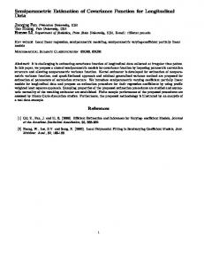 Semiparametric Estimation of Covariance Function for ... - CiteSeerX