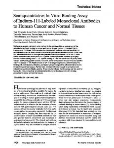 Semiquantitative In Vitro Binding Assay of Indium - Journal of Nuclear