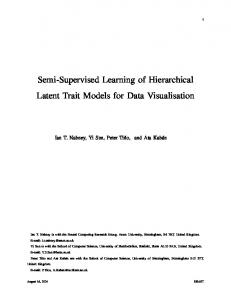 Semisupervised Learning of Hierarchical Latent Trait Models for Data ...