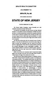 senate - New Jersey Legislature