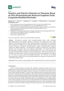 Sensitive and Selective Detection of Tartrazine Based on TiO2 ... - MDPI
