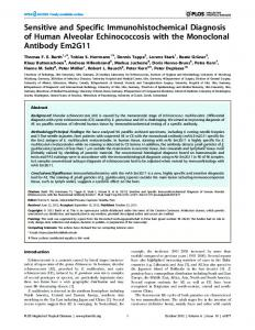 Sensitive and Specific Immunohistochemical Diagnosis of ... - PLOS