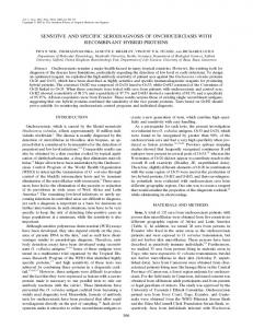 sensitive and specific serodiagnosis of onchocerciasis with ...