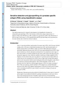 Sensitive detection and glycoprofiling of a prostate specific ... - Webflow