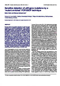 Sensitive detection of p53 gene mutations by a ... - BioMedSearch