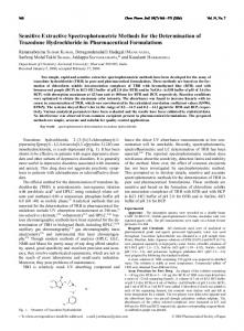 Sensitive Extractive Spectrophotometric Methods for the Determination ...