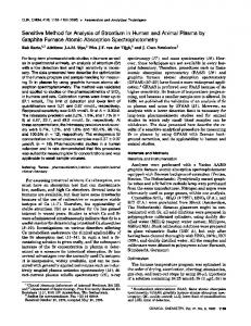 Sensitive Method for Analysis of Strontium in ... - Clinical Chemistry