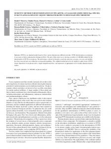 SENSITIVE METHOD FOR DETERMINATION OF PIPLARTINE, AN