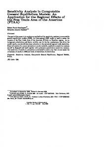 Sensitivity Analysis in Computable General Equilibrium Models: An
