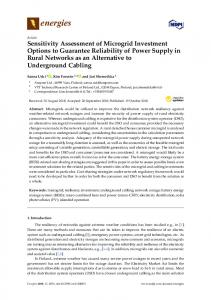 Sensitivity Assessment of Microgrid Investment Options to Guarantee