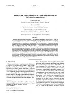 Sensitivity of CAM5-Simulated Arctic Clouds and Radiation to Ice ...