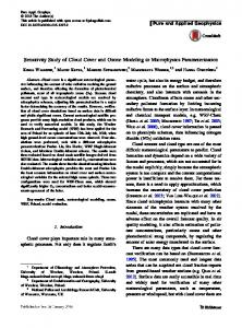 Sensitivity Study of Cloud Cover and Ozone Modeling to Microphysics ...
