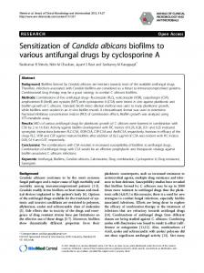 Sensitization of Candida albicans biofilms to various ... - BioMedSearch