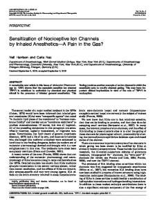 Sensitization of Nociceptive Ion Channels by Inhaled ... - CiteSeerX
