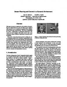 Sensor Planning and Control in a Dynamic