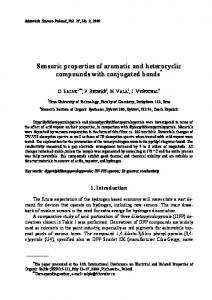 Sensoric properties of aromatic and heterocyclic compounds with ...