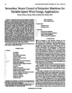 Sensorless Vector Control of Induction Machines for ... - IEEE Xplore