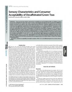 Sensory Characteristics and Consumer ... - Wiley Online Library