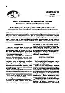 Sensory, Physicochemical and Microbiological ...