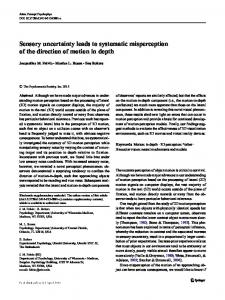 Sensory uncertainty leads to systematic ... - Semantic Scholar