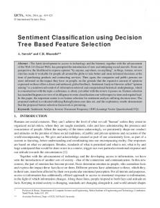 Sentiment Classification using Decision Tree Based ...