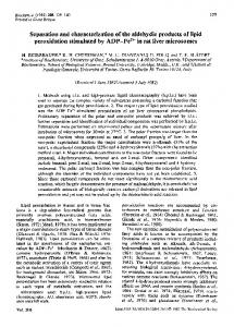 Separation and characterization of the aldehydic products of ... - NCBI