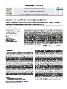 Separation and quantification of microalgal carbohydrates - Core